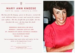 Mary Ann  Kneese