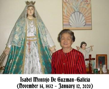 """Isabel """"Belle"""" Montojo  De Guzman-Galicia"""
