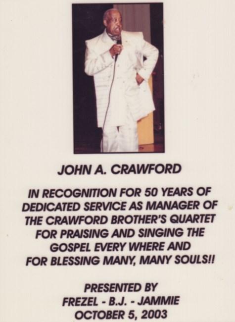 John Alfred Crawford Obituary - Weyers Cave, VA